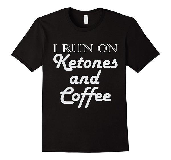 Кето футболка-Я Рунер на кетоны и кофе - мужчины прохладный футболки дизайн лучшие продажи мужчины с коротким рукавом хип-хоп футболка Футболка топ тройник