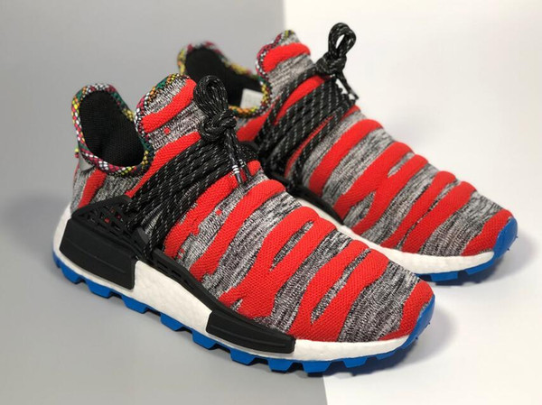 0a8e98fc1aac1 arrival human race Hu trail x pharrell williams men running shoes Solar  Pack Afro Holi Blank