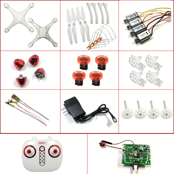 SYMA X8SW X8SC X8PRO X8 pro RC Drone Quadcopter Spare Parts Motor Blades Shell Wind Landing Gear Receiving Board Controller