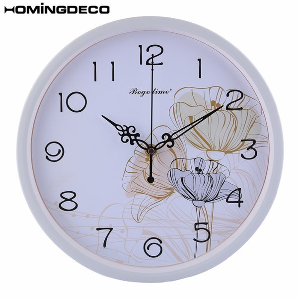 Drop Ship 12-Inch wall clock Modern design Metal Silent Wall Clocks Mute Clocks For Home Decor 4 Different Styles To Choose