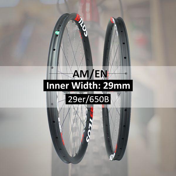 29er All mountain Enduro ruote in fibra di carbonio mtb compatibili tubeless