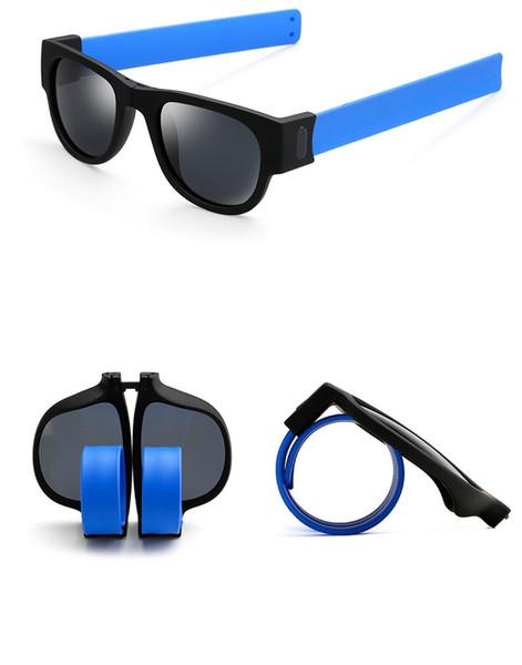 Оптово-складные поляризованные солнцезащитные очки Женщины Мужчины Стимпанк Очки Складные солнцезащитные очки Новинка Солнцезащитные очки Slap Солнцезащитные очки Вариант шести цветов