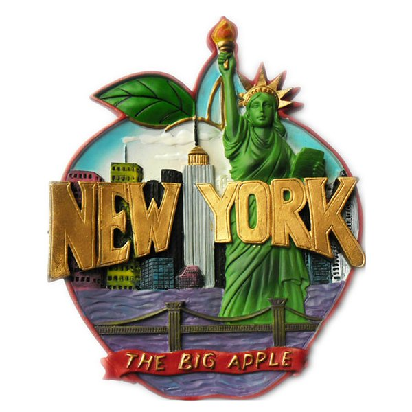 Creative Big Apple New York US Fridge Magnet Statue of Liberty Refrigerator Magnetic Stickers Desktop Wall Decoration Miniature