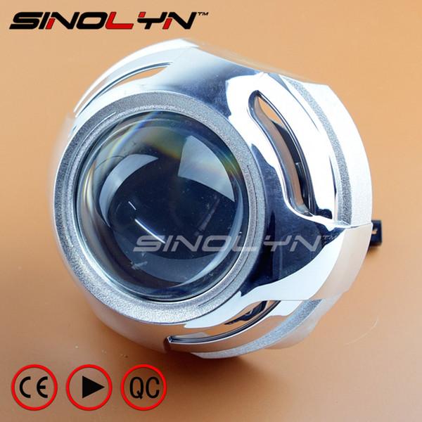 SINOLYN 3.0 inches Pro Metal HID Bi-xenon Projector Lens Headlight Retrofit Kit Xenon Headlamps H1 H4 H7 Car-styling Accessories