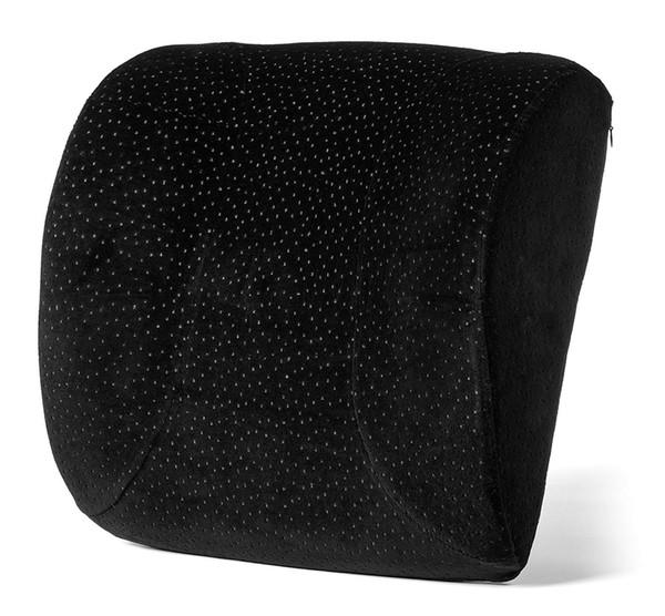 Memory-Foam lumbalen Kissen für Bürostuhl - maximale untere Rückenschmerzen Relief - Queen Size Rückenstützkissen für Auto, Schreibtisch, Computer für Männer,