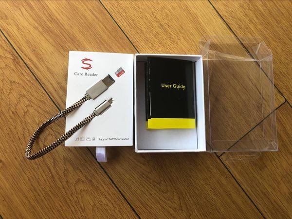Cable de carga multifuncional del lector de tarjetas del micro SD TF para el lector de tarjetas de memoria del teléfono 7 8 OTG con la caja al por menor