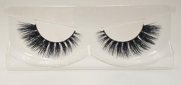 3D Mink False Eyelashes 100% Mink Fur Long Thick Hand-made Reusable Eyelashes Natural 1 Pair Pack MTL103