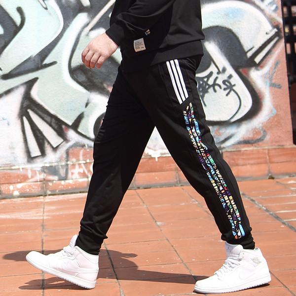 Толстые брюки 2018 осень новый хип-хоп мужские повседневные брюки хлопок резинка ширина свободные большой размер брюки нижнее белье