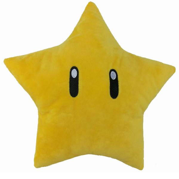 EMS Super Mario Bros Star 30CM Plush Doll Stuffed Best Gift Soft Toy