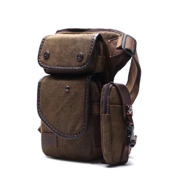 Men Canvas Nylon Bag Drop Leg Fanny Hip Bum Thigh Handbag Motorcycle Travel Riding Body Cross Waist Pack Belt Bags