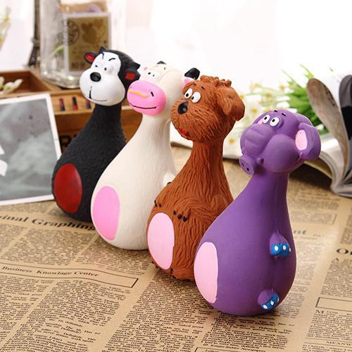 Pet Squeaky Chewing Toys Cat Dog Phonation Latex PetsToy Lovely Cartoon Anti Bite Toys Molar Tool Home Decor 160pcs AAA832