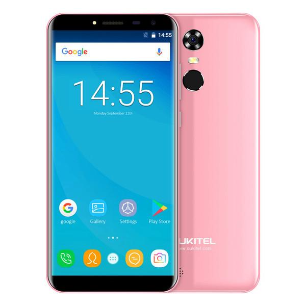 Cheap OUKITEL C8 3G WCDMA Fingerprint 2GB 16GB Quad Core MTK6580 Android 7.0 5.5 inch IPS 1280*640 HD 18:9 GPS WiFi 13.0MP Camera Smartphone
