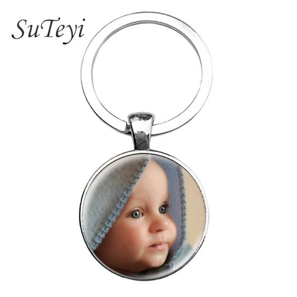 SUTEYI персонализированные фото брелок пользовательские брелок фото вашего ребенка Мама папа дедушка и бабушка любимый подарок для семьи подарок