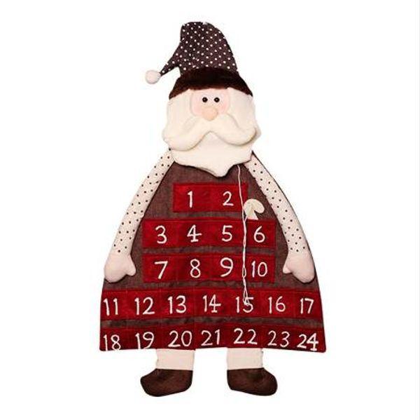 top popular Christmas Advent Countdown Calendar Christmas Deocration For Home Christmas Ornament Gift Bags Decoration Santa Clau 2020