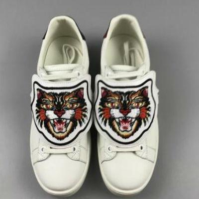 2017 Designer Low Top White Leather Men Women Casual Shoes Fashion Tiger Cat Pineapple Blind for Love Removable Sneakers size 36-44