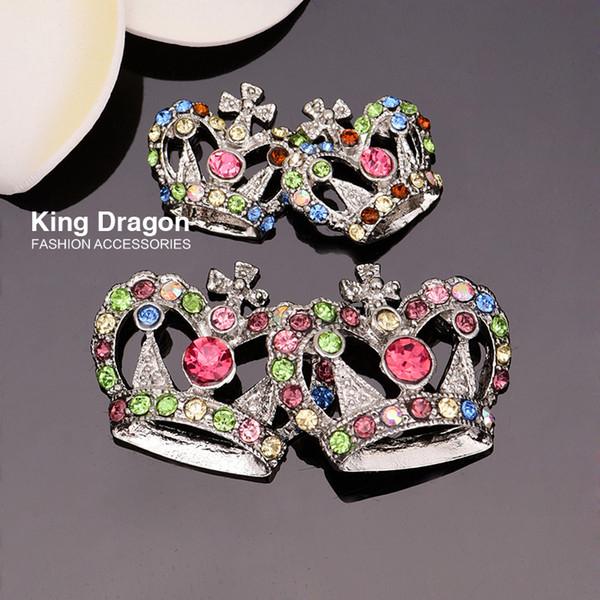 Enfeite de coroa de strass usado na decoração 19MM ou 29MM 20pcs / lot cor de níquel plano de volta KD22