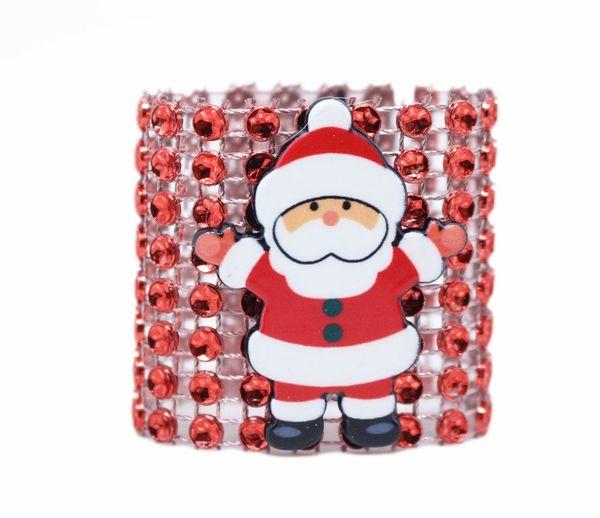 New Metal Christmas Santa Claus Shape Napkin Ring Napkin Buckle Hotel Restaurant Home Dinner Table Decoration Serviette Holder