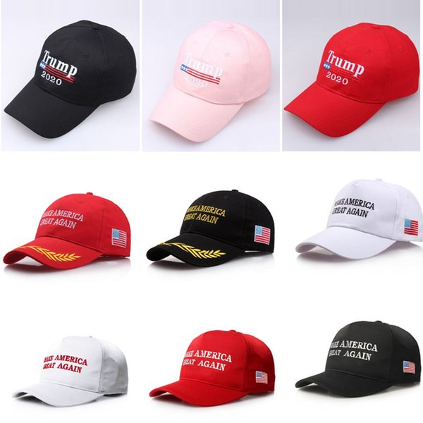 Broderie Trump 2020 rend l'Amérique encore une fois Donald Trump Casquettes de baseball Chapeaux Casquettes de baseball Adultes Sports Hat