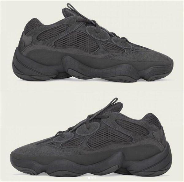 b3142d089 2018 KANYE Boost 500 Utility Black F36640 UTIBLK Kanye Sneakers Desert Rat  Mens Running Shoes Sneakers