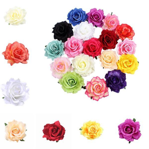 26 estilos Simulação Rose Hairpin Seaside Sandy Beach Mulher Broche Flor Simulação Rose Flor Mulheres Pin Cabelo T6I053