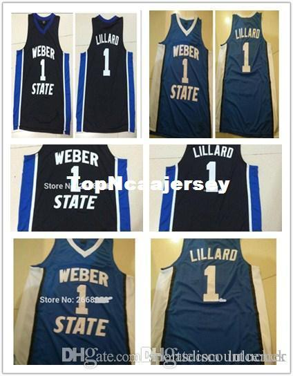 a876ab280 A+ Free Shipping Cheap custom Mens Customized Weber State  1 Damian Lillard  Custom Basketball Jersey New Materials With Double Stitching