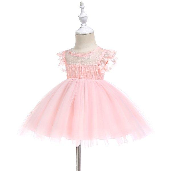 Großhandel 2018new Factory Outlet Kleinkind Kleinkind Baby Mädchen Taufkleid Prinzessin Ball Party Hochzeit Spitzenkleid Taufe Erwachsene Kleider