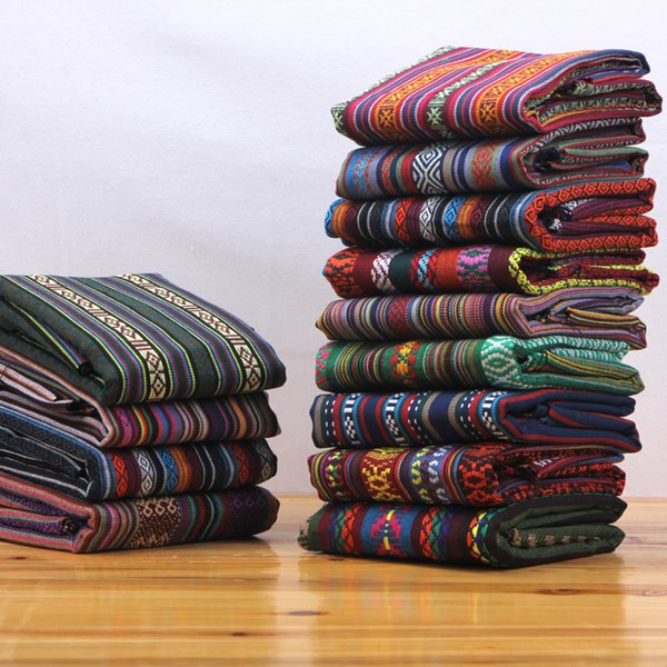 best selling B Ethnic style cloth cotton and linen vintage linen bohemian fabric sofa fabric