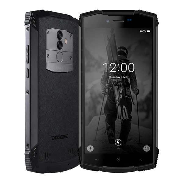 """top popular DOOGEE S55 IP68 Waterproof 4GB 64GB 5.5"""" HD+Mobile Phone Android 8.0 Octa Core smartphone 13MP Camera 5500mAh 5V2A Quick Charge 2020"""