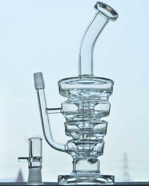 Bong recycler glass bong oil rig water pipe feb egg hookah hitman type new bong 14.5mm Joint