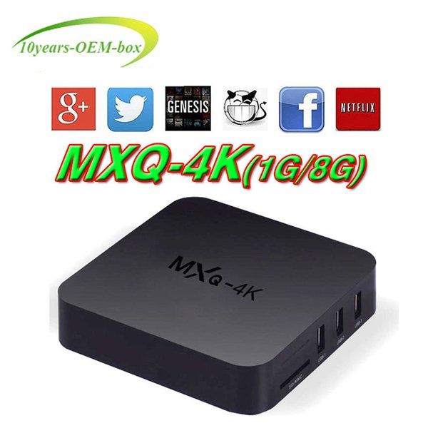 Smart Rockchip RK3229 MXQ PRO MXQ-4k TV Box Android 7.1 H.265 4K 60tps 1080P HD Streaming Media Player TV Box Spedizione gratuita