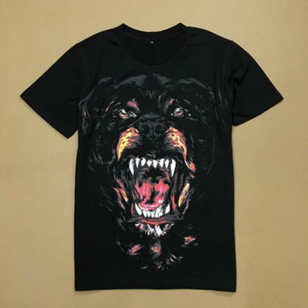 Moda Animal Print Famosa Marca de lujo Camisetas Tee para Hombres Mujeres Algodón Masculina Top Tee Venta caliente S-XL