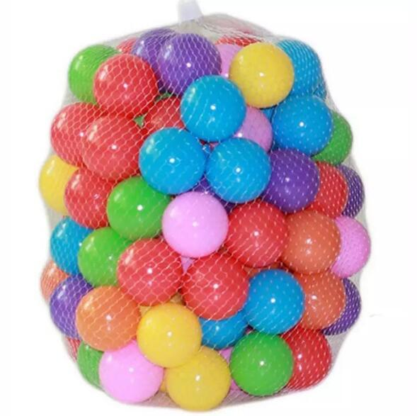 100pcs/lot Eco-Friendly Colorful Soft Plastic Water Pool Ocean Wave Ball BPA Free Baby Funny Toys Stress Ball Pits Outdoor Fun Sports