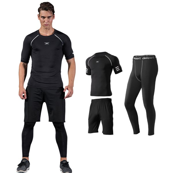 Readypard Big Size Sport Training Suits Men Sportswear Sets Warm Gym Clothes Male Summer Tracksuit Running Jogging Suit Mens
