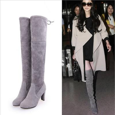 Faux Suede Slim Boots Sexy over the knee high women fashion winter thigh high boots shoes woman