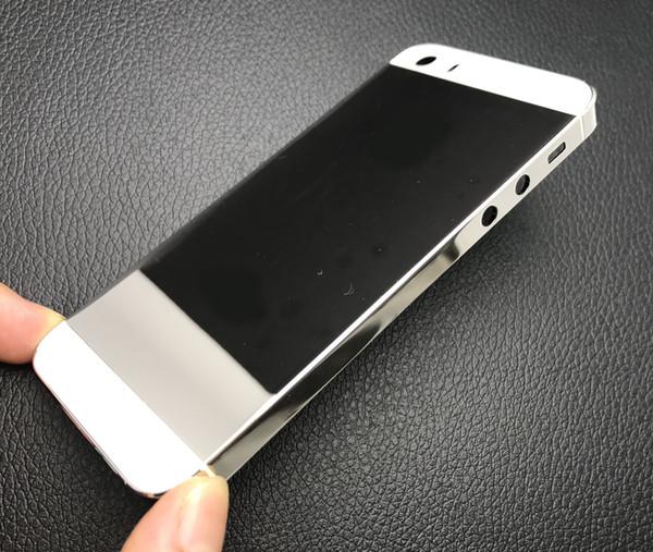10 adet / grup 24 K Platin Kaplama Orta Çerçeve lüks Gümüş geri konut değiştirme iphone 5 S Ücretsiz Kargo GÜMRÜKLEME SATıŞ !!!