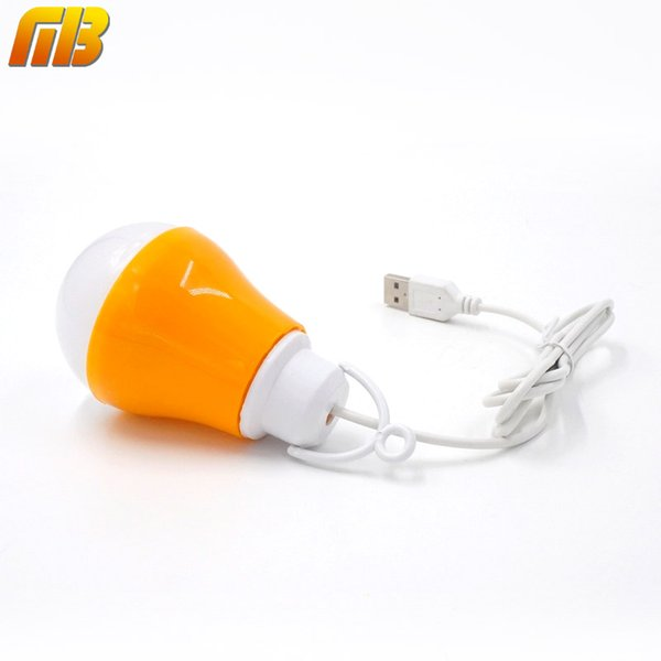 USB LED Bulb Reading Light Portable Night Light 5V DC 5W Work With Power Bank Notebook Camping Outdoor Light LED Lamp