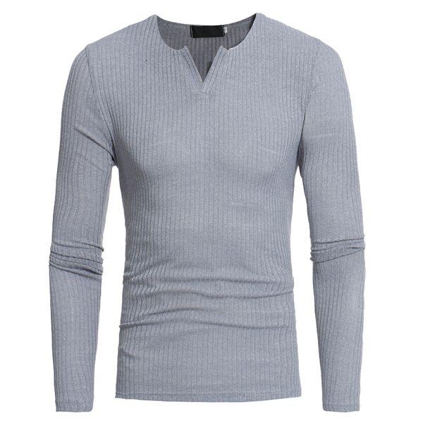 2017 neue Männer Gestrickte Pullover Mode elastizität Gestreiften pullover Marke Kleidung männer V-ausschnitt Pullover Einfarbig Slim Fit Männer