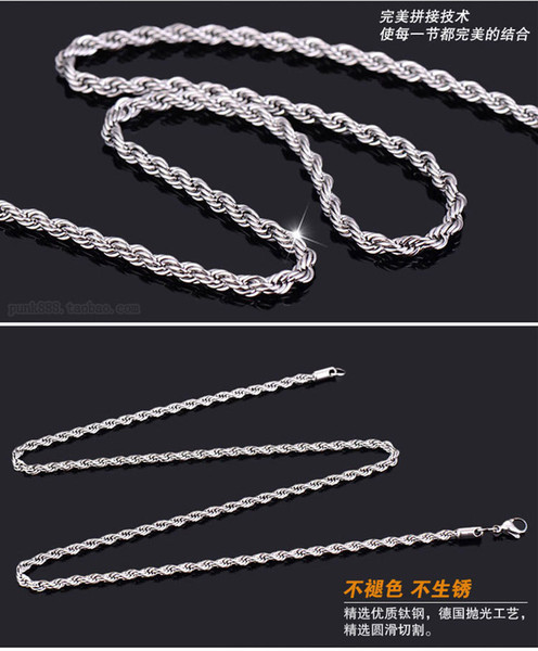 Nouvelle chaîne de collier en argent sterling 925 femmes de bijoux fins
