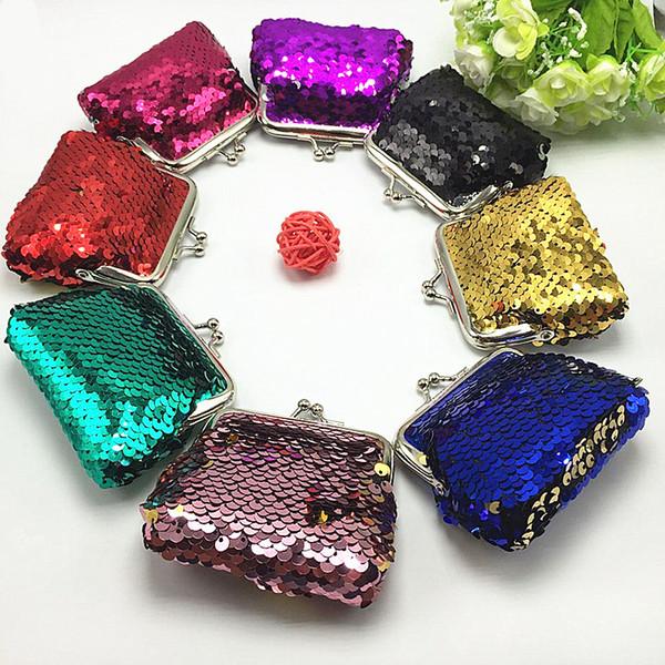 Womens Bag Small Sequin Wallet Card Holder Coin Purse Clutch Handbag Bag Children's Wallet Purse For Coins