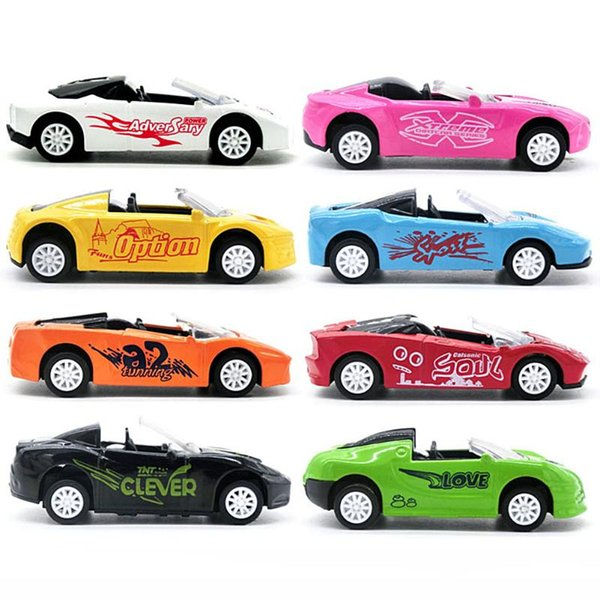 Children Boys Toy Cars Plastic Vehicles Model Pull Back Car Toys Alloy Convertible Car Kid Boys Girls Xmas Gifts