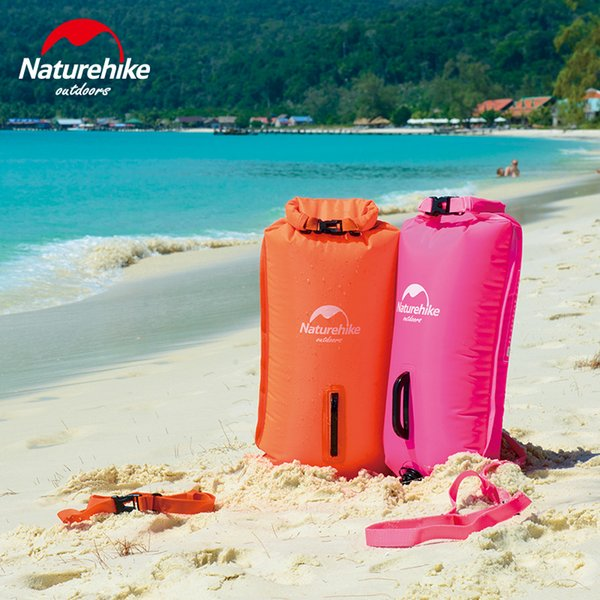 NatureHike 3 couches épaississent Inflatable Travel Dry sacs Rafting snorkeling Natation camping pliable Sac étanche 28L