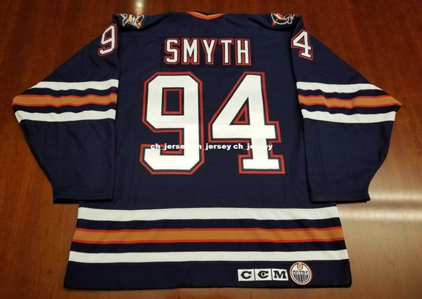 ... shopping cheap custom ryan smyth vintage edmonton oilers ccm jersey oil  drop stitched retro hockey jersey ef015c920