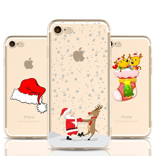 Christmas Gift Silicone Case For iPhone 7 8 Plus X Coque Soft Capinha Cover 5s Phone Cases For Iphone 7 Plus Phone Case