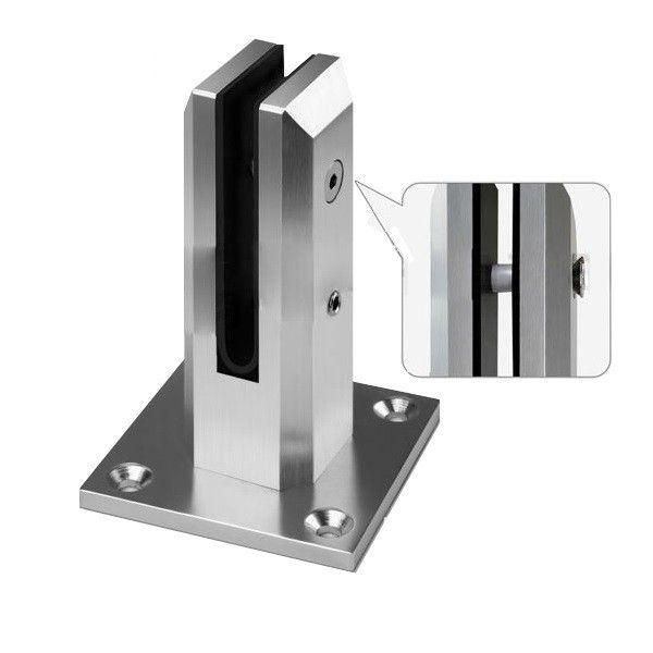 best selling Square Balustrades Handrails Aluminum Glass Spigot Pool Fence Frameless Balustrade Spigots Clamp Suit 10mm 12mm Glass