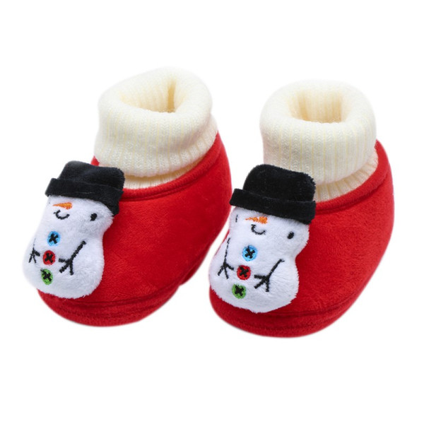 First Walkers Mother & Kids Autumn Winter Kids Newborn Baby Boys Girls Cartoon Smile Expression Soft Plush Cute Infant Anti Slip Warm Shoes First Walkers