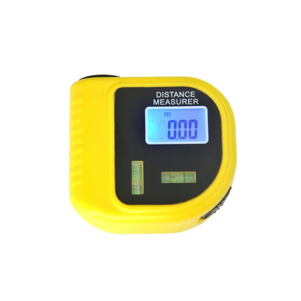 Handheld Laser Rangefinder Ultrasonic Distance Measurer Meter Tape CP-3010 With Level Bubbles Ruler W Temperature Measurement