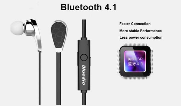 Bluedio N2 Auriculares Bluetooth V4.1 Auriculares HIFI Deportes inalámbricos Auriculares estéreo Prueba de sudor Muti-punto Conexión Comando de voz US05