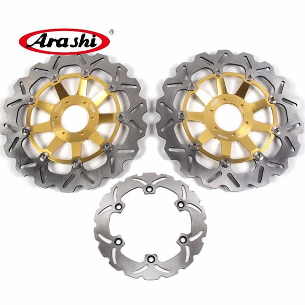 Arashi For HONDA CBR1100XX 1999 - 2007 Front Rear Brake Disk Disc Rotor CBR1100XX CBR1100 2000 2001 2002 2003 2004 2005 2006