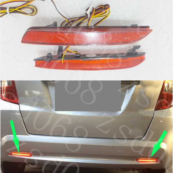 2x Auto LED Car styling Red Rear Paraurti Riflettore Light Fog Parking Warning Freno Tail Lampada per HONDA FIT JAZZ 2011 ~ 2013