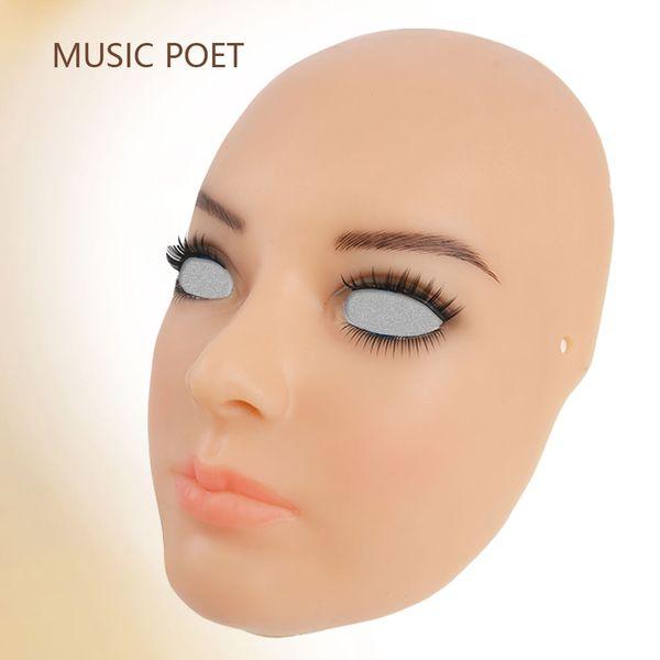 Hochwertige realistische Silikonmaske, Cross Dressing, Halloween weibliche Silikonmaske Party Cosplay Maskerade Shemale Drag Queen